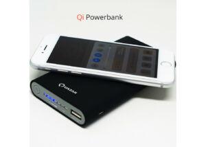 Qi Charger Powerbank vezeték nélküli töltővel