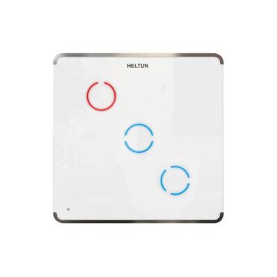 Heltun Touch Panel fali kapcsoló 2 érintőgombbal (fehér-ezüst)