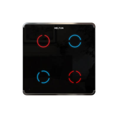 Heltun Touch Panel fali kapcsoló 4 érintőgombbal (fehér-ezüst)
