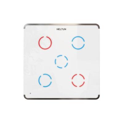 Heltun Touch Panel fali kapcsoló 5 érintőgombbal (fehér-ezüst)