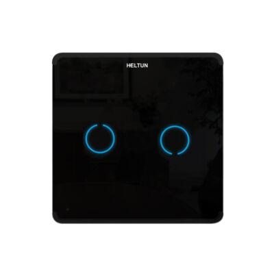 Heltun Touch Panel fali kapcsoló 2 érintőgombbal (fekete-fekete)