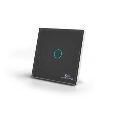 MCO Home Touch Panel fali kapcsoló 1 érintőgombbal (fekete)