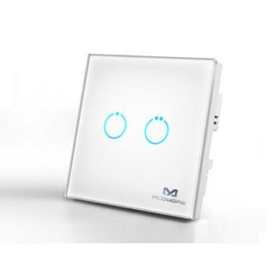 MCO Home Touch Panel fali kapcsoló 2 érintőgombbal (fehér)