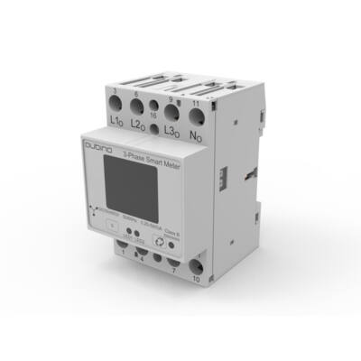 Qubino 3-Fázisú fogyasztásmérő DIN-sínre